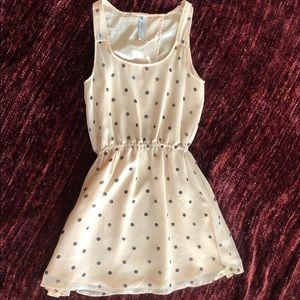 O'Neill Pink Dress with Black Polka Dots